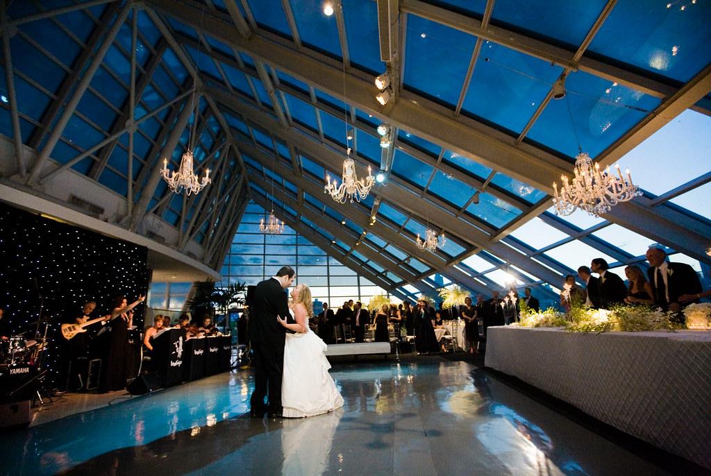 Adler Planetarium Wedding Reception   Bride and Groom dance