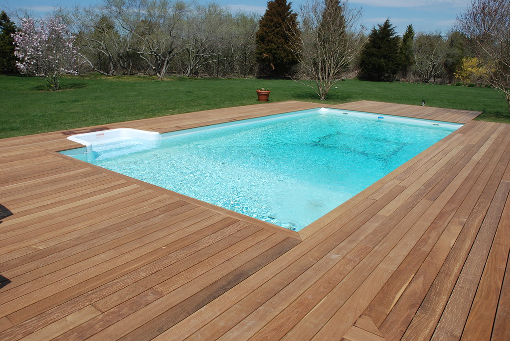 Ipe Pool Deck Beautiful Ipe Wood Decking Around In Ground Flickr