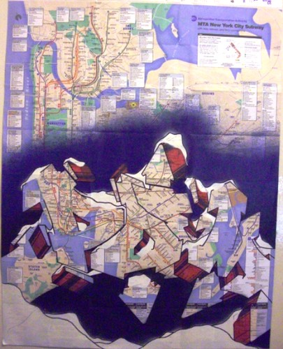 City Subway Map Art.Poem Graffiti Art On New York City Subway Map Big Poem Flickr