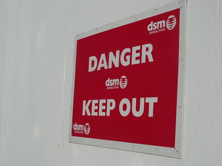 Danger and Keep Out - sign - DSM Demoliton sign on Bartholomew Row | by ell brown
