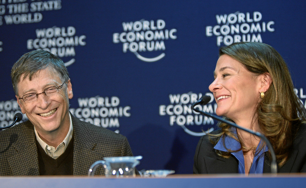 Melinda French and Bill Gates - World Economic Forum Annual Meeting Davos 2010