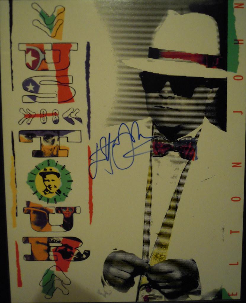 Elton John Autographed 1988 U S  Tour Program | Joe Merchant