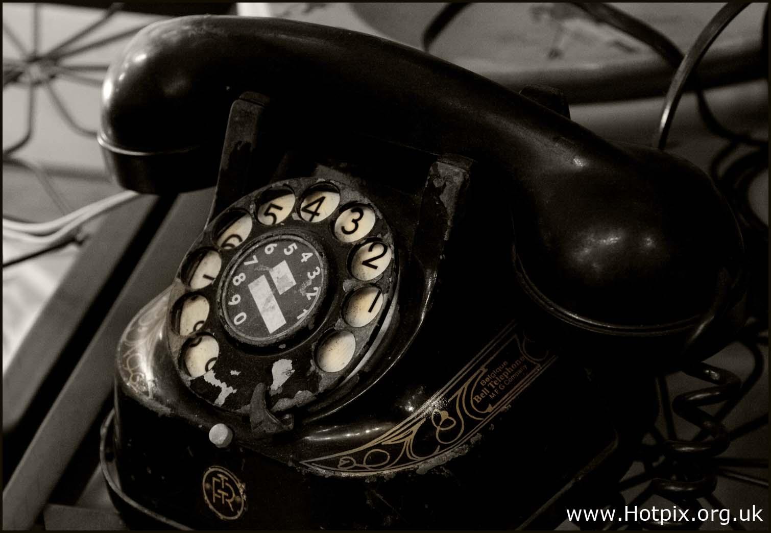 Bell,Telephone,Manufacturing,Company,co,phone,black,white,old,1920,1930,dial,rotary,Antwerp,belgian,Belgium,Alcatel,Lucent,selective,colour,color,toned,sepia,mono,monochrome,stuff,selectivo,couleur,s\u00e9lective,vorgew\u00e4hlte,Farbe,hotpix!
