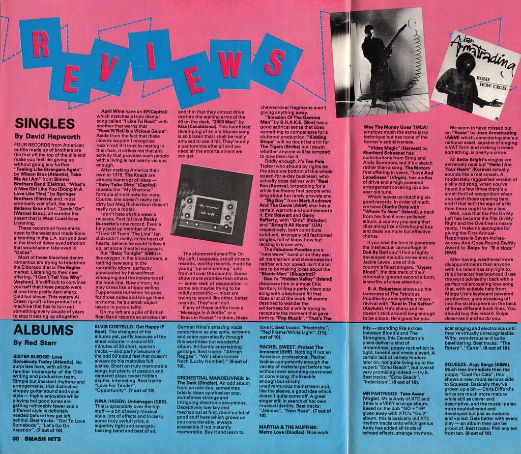 Smash Hits, March 6, 1980 - p 30 | Like Punk Never Happened