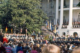 Washington - Ceremony on White House Lawn