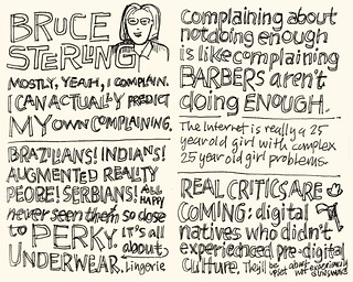 SXSW Interactive 2010: Bruce Sterling | by Mike Rohde