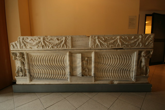 Sarcophagus at Centrale Montemartini, Rome