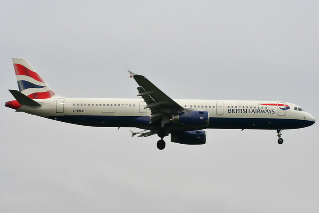 G-EUXI - 2005 build Airbus A321-231, inbound to Heathrow
