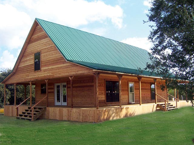 Two Story Ranch Cabin Options Shown Full Wrap Around Porc Flickr
