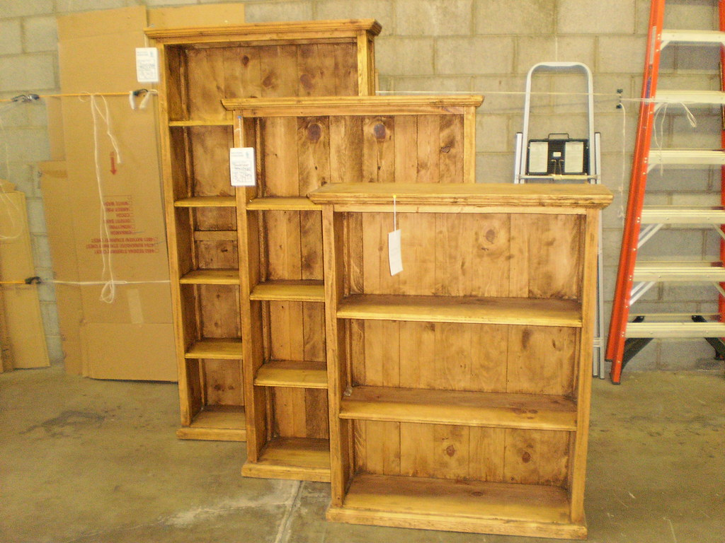 Rustic Pine Solid Wood Bookcases These Solid Pine Bookcase