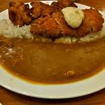 Japanese Curry With Fried salmon & Karaage