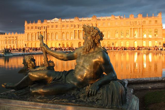 Versailles, coucher de soleil sur