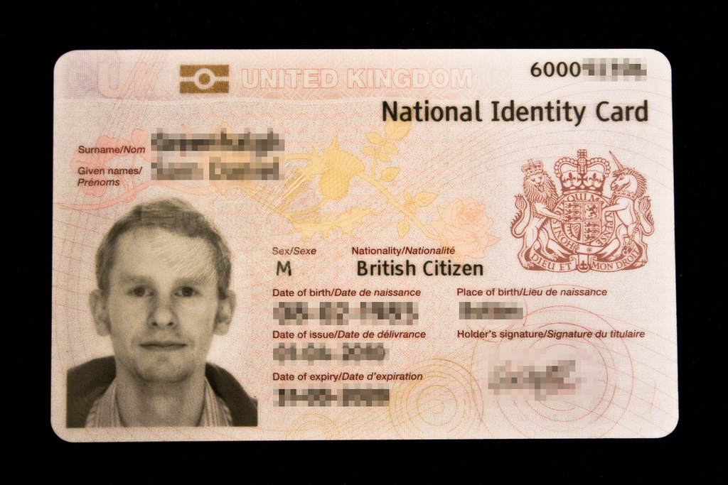 UK National Identity Card (Front) | This is my new UK Nation… | Flickr
