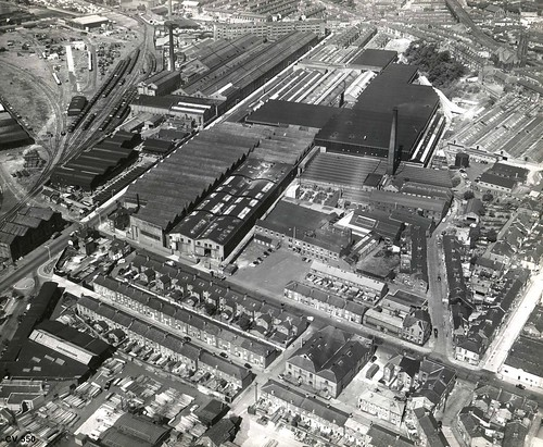 Dick Kerr & English Electric Works, Strand Road, Preston. Aerial Image, May 1951   by Preston Digital Archive