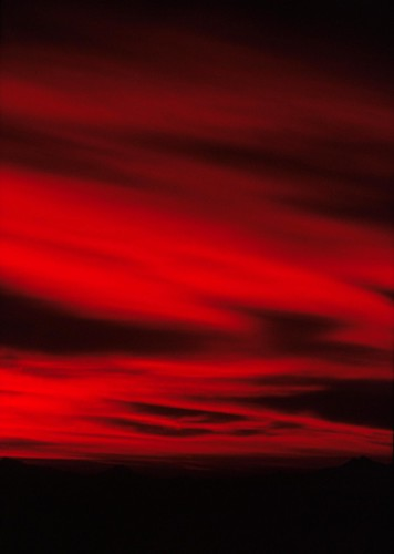 sunset arizona clouds landscape tucson kodachrome olympusom1