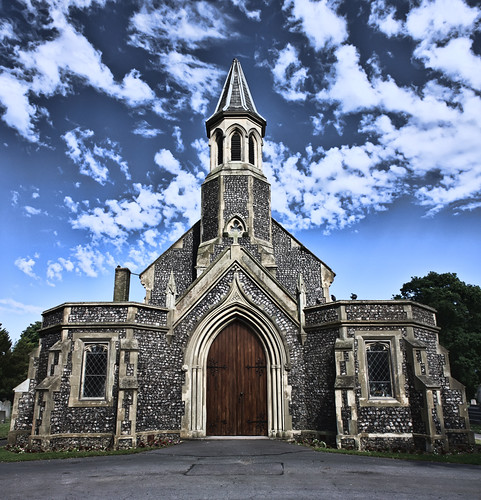 Kingston Cemetery Chapel   by Hexagoneye Photography