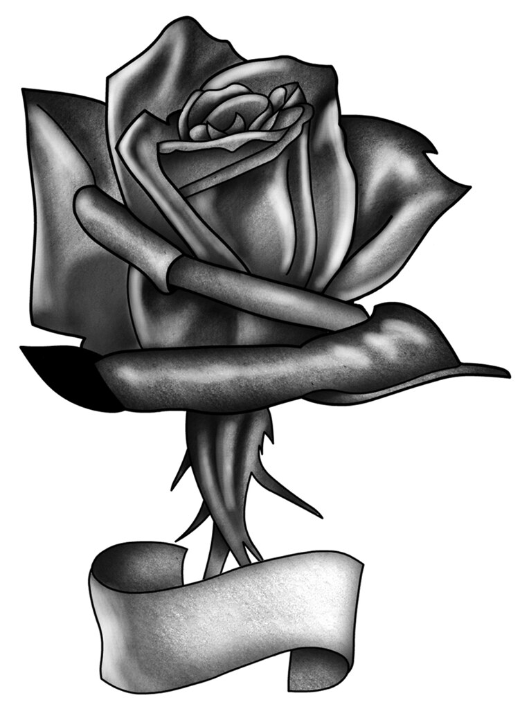Black Rose A Black Rose Tattoo Design By Juno Juno Tatto Flickr