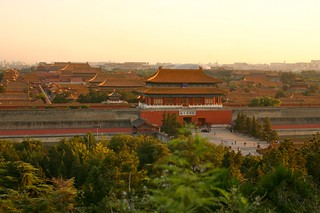 View of Forbidden City at Jingshan Park. | by angelhsu