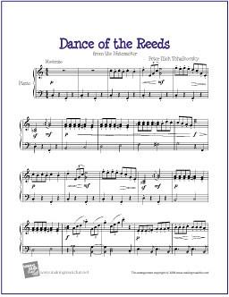 Dance of the Reeds (Nutcracker)   Free Easy Piano Sheet Mu