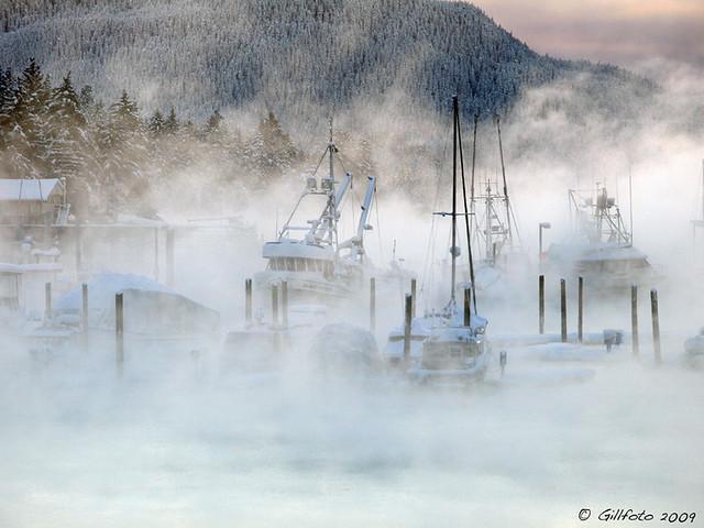 Fog over Statter Harbor