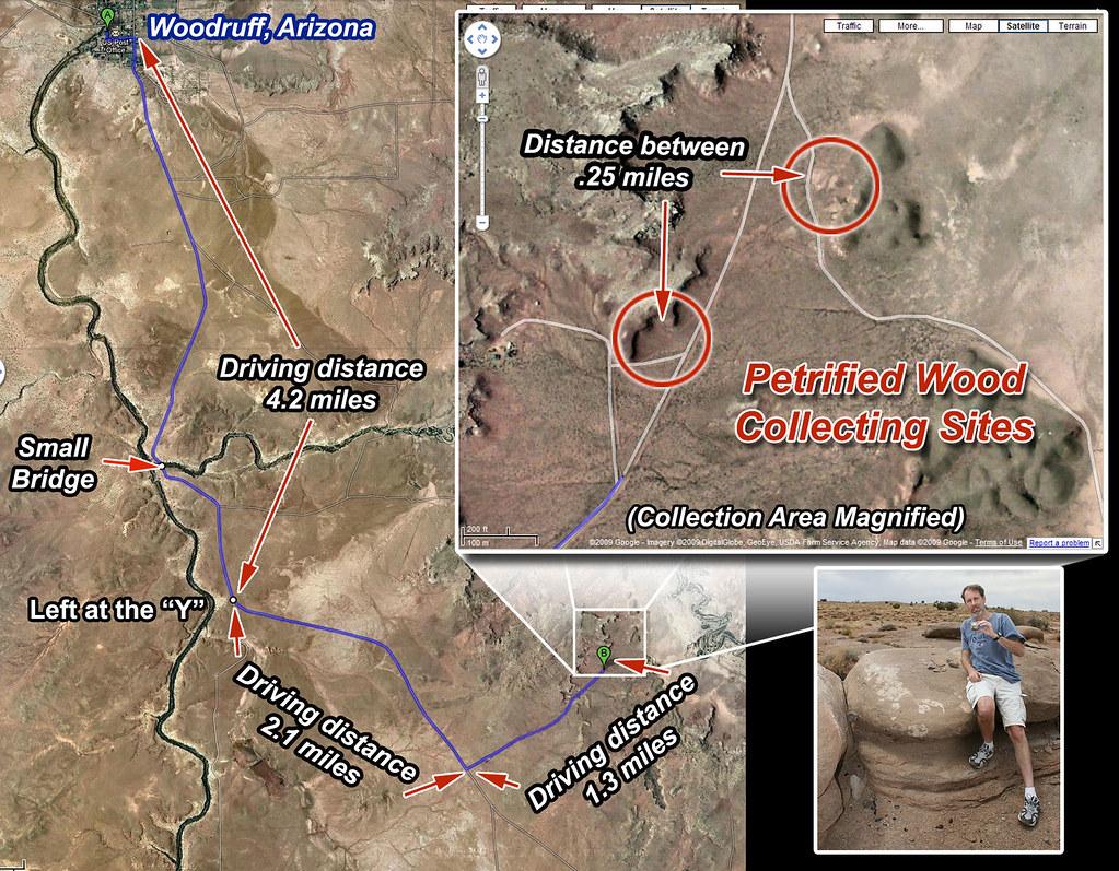 Map Of Arizona Driving.Petrified Wood Collecting Map Woodruff Arizona A Visual M Flickr