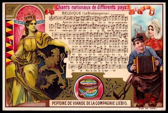 Liebig Tradecard S593 - National Anthems - Belgium