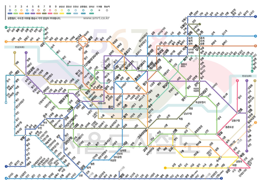 Eoul Subway Map.Seoul Subway Map Korean Seoul Subway Map Korean For Mo Flickr
