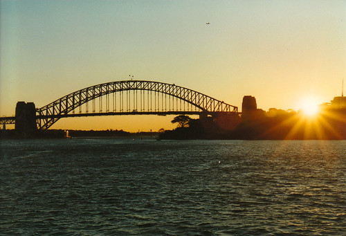 horizon sydney centre point harbour bridge australia opera house skyline sunset w water wet