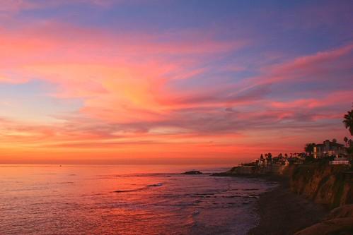sunset sky seascape clouds bravo waves lajolla pachelbelcanon goldpawaward