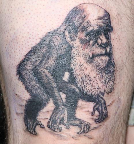 Darwin Tattoo Done!