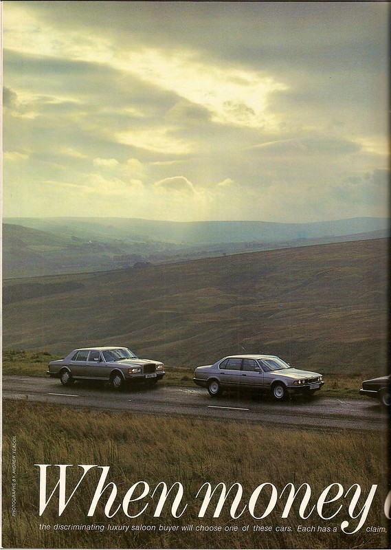 BMW 750iL - Bentley Turbo R - Mercedes 560 SEL - Jaguar Sovereign V12 Test 1987 (1)