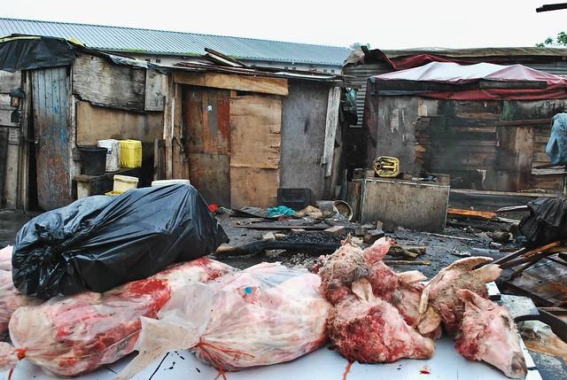 butchershop in township Langa (Capetown)