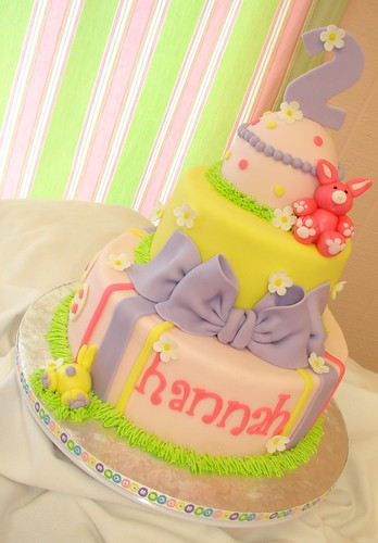 Hannah's Easter Birthday Cake | by Little Sugar Bake Shop