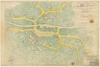 Caddo Lake State Park - Plot Plan for Cabins, Roads, and Parking Areas - SP.40.10 | by Texas State Archives
