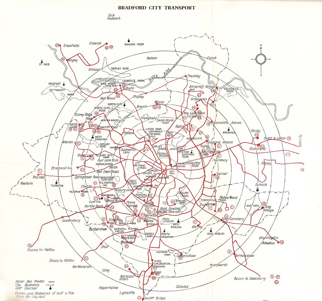 Bradford City Transport route map, 1971/72   This map, from ...