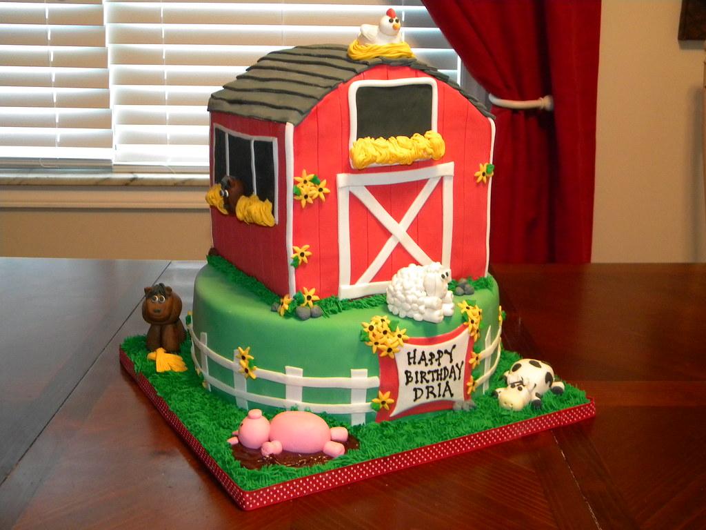 Amazing Barn Birthday Cake Jennifer Flickr Personalised Birthday Cards Veneteletsinfo