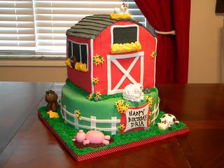 Admirable Barn Birthday Cake Jennifer Flickr Personalised Birthday Cards Veneteletsinfo