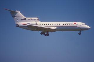 103ce - Ada Air Albania Yakovlev 42; UR-42377@ZRH;11.08.2000