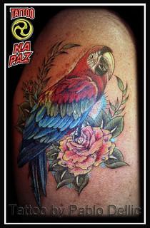 Arara Pirate Tattoo by Pablo Dellic | by Pablo Dellic 