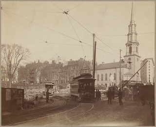 Corner of Tremont & Park Streets (Park Street Church) | by Boston Public Library