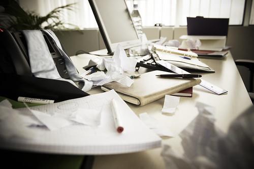 a messy desk   by EU Social
