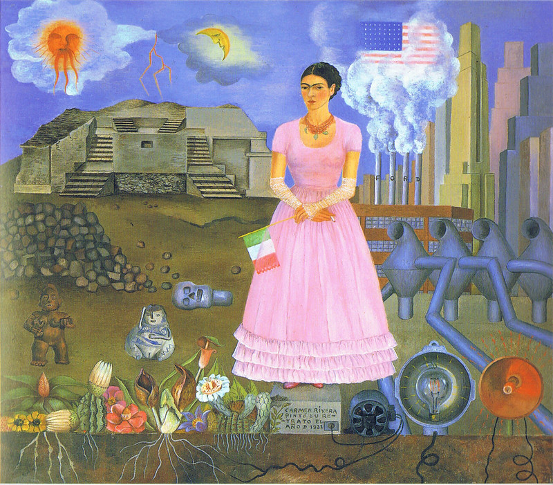 Frida Kahlo: Self-portrait along the border line between Mexico and the United States, 1932
