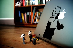 The lego people get Apple fever | by Michael Dales