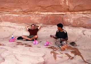 lunch break in the shade, wadi rum | by hopemeng