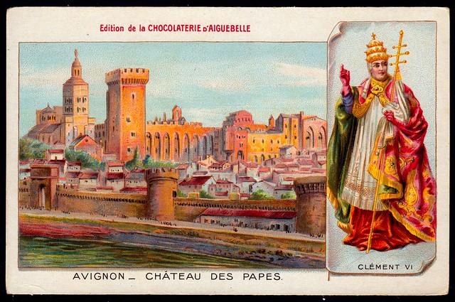 French Tradecard - Avignon Castle