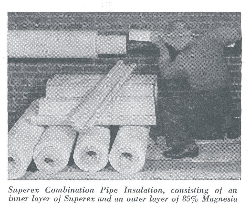 Johns-Manville Asbestos Insulation Installation | From vinta