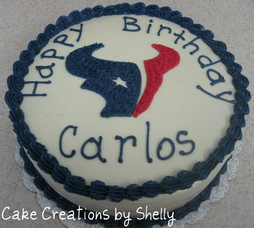 Admirable Texans Birthday Cake 8 Round Cake Houston Texans Footbal Birthday Cards Printable Giouspongecafe Filternl