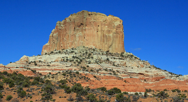 Colorful butte between Page and Kayenta, Arizona