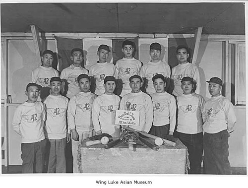 Block 42 baseball team at Minidoka, 1945 | by IMLS DCC