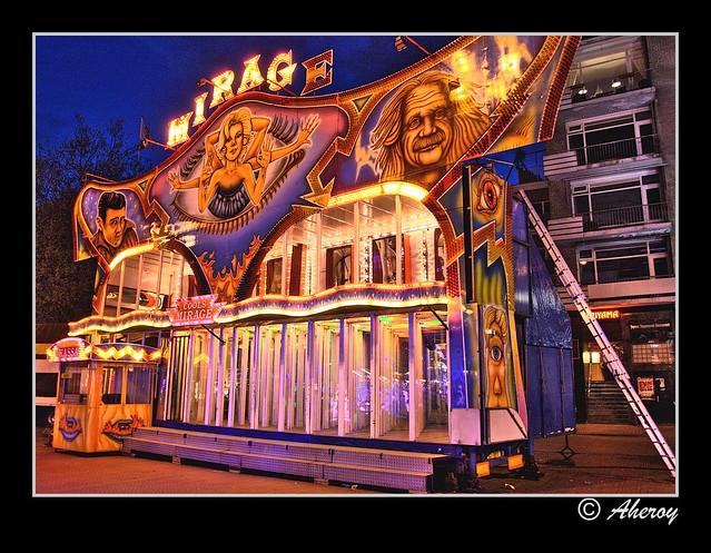 Funfair-NachtMeiKermis,Groningen stad,the Netherlands,Europe.